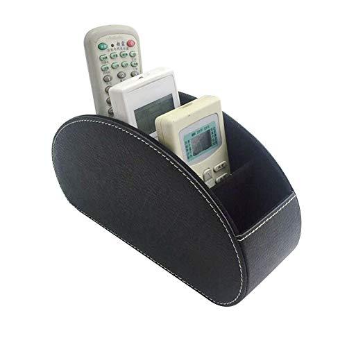 Ruimin Fernbedienungshalter mit 5 Fächern - Leder Remote Caddy Desktop Organizer Store DVD,Kosmetikpinsel-Aufbewahrungslösung (Remote-organizer)