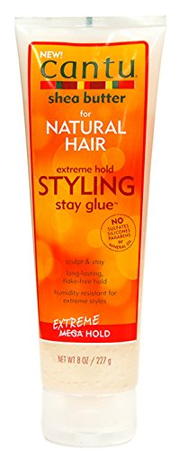 New Cantu Shea Butter For Natural Hair Extreme Hold Styling Stay Glue 8 Oz