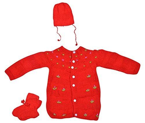 Kuchipoo Baby Hand Knitted Sweater 3 Piece Gift Set (Multi 7)