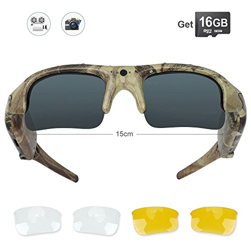 449b44e8dcf8a WISEUP 16GB Camouflage Spy Camera Sunglasses HD Video Recording Eyewear for  Hunting Fishing - Buy Online in UAE.