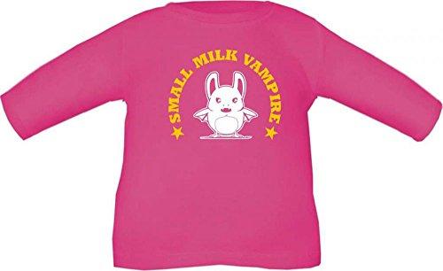 Baby / Kinder T-Shirt langarm Small milk vampire / Größe 60 - 152 in 6 Farben Fuchsia