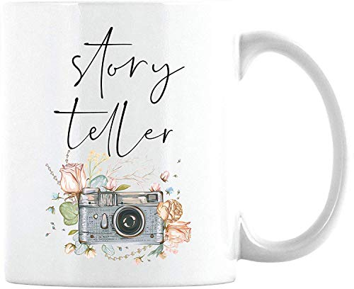 VTYOSQ Gift for Photographer- Gifts for Photographers Mug- Photography Cup Story Teller Coffee Mug (White Coffee Cup, 11oz)