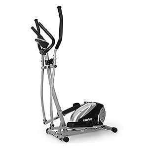 Klarfit ELLIFIT BASIC 20 Vélo elliptique (ordinateur coach, pulsomètre, crosstrainer, 8 niveaux, mesureur de pouls, affichage LCD, gros boutons, max. 100kg)