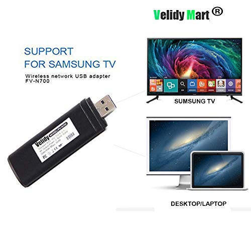 Velidy Adattatore Wi-Fi wireless USB TV,802.11 AC 2.4 GHz e 5 GHz Dual-Band di rete wireless USB adattatore WiFi per Samsung Smart TV WIS12ABGNX WIS09ABGN 300 m