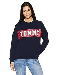 b728be5906 40%off Tommy Hilfiger Womens Cotton Sweatshirt (A7AJH118 Navy Blazer M)
