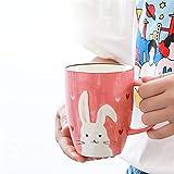Tazza Cappuccino Caffè 380 Ml Bambini Che Bevono Tazza In Ceramica Coniglio Carino Modello Caffè Tazza Di Latte Per Bambini Home Cafe