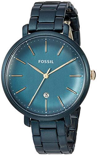 Fossil Jacqueline Grün Edelstahl Damen Armbanduhr- ES4409