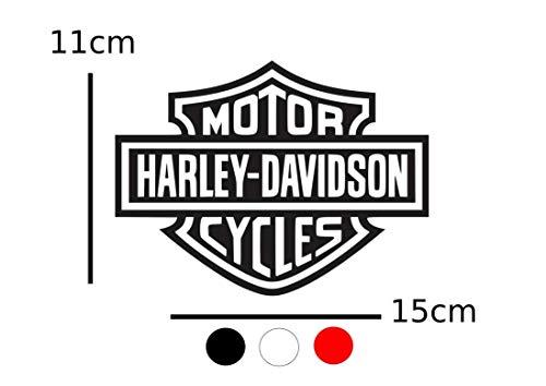 HARLEY DAVIDSON Adesivo Harley Davidson Teschio Moto Universale 883 Sportster Dyna Touring Street Nero Bianco