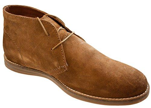 Redtape Mens Desert Wildleder Leder Lace Up Chukka Gobi Stiefel In hellbraun oder Navy Or Tan hochwertige Größe 40 - 46 Marine