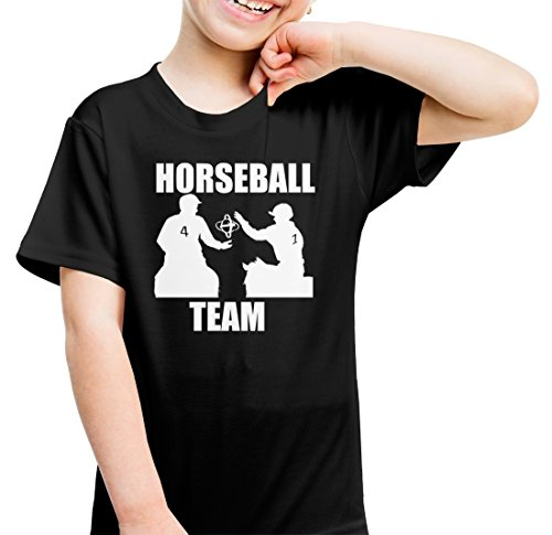 Wotan Textil Horseball Team - Kindershirt Schwarz###146###Kinder Tshirt