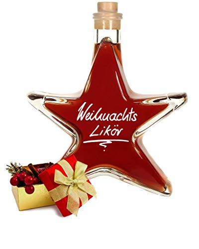 Weihnachtslikör Sternflasche 0,2 L aromatisch nach roten Beeren Kräutern & Rum 22% Vol