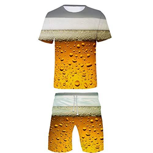 Herren 3D Bier Gedruckt T Shirts Hemd Shorts Urlaub Strand Freizeit 19 Sätze Bayerischen Oktoberfest Festliche Party Tops Oberteile Hose Kostüm Nachtclub Bar Club Karneval Trachten