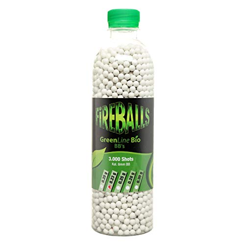 FireBalls Bio Softairkugeln Green Line 0,23g weiß, 3.000 Stück Flasche