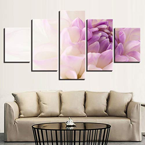 adgkitb canvas Hd Sofa Wanddekoration Malerei 5 Stücke Pflanze Blumen Bunte Gemälde Rahmen Modulare Bilder Leinwand Poster -