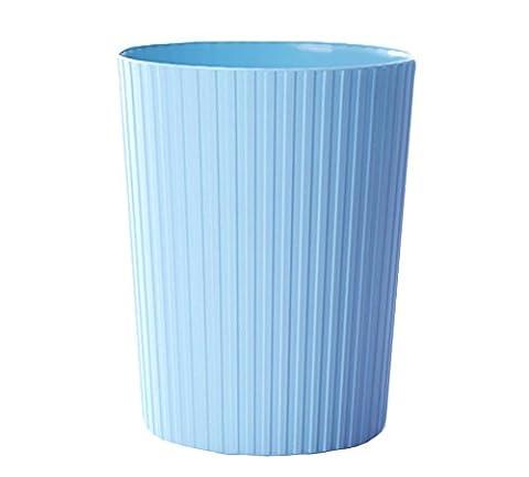 Mülltonnen Mülleimer Haushalt Wohnzimmer Küche Badezimmer ohne Abdeckung Lagerung (blau