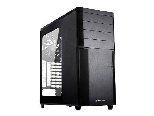 Silverstone Tek SSI-ceb, ATX, Micro-ATX Full Tower Computer Fall mit Kunststoff Front Panel, Stahl Body und Fenster Seite Panel Fällen kl04b-w (schwarz)
