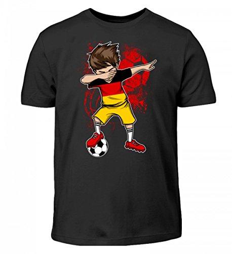 Hochwertiges Kinder T-Shirt - Dabbender Deutschland Fußballer Junge Dab Deutschland Fußball Trikot Nationalmannschaft WM Geschenk