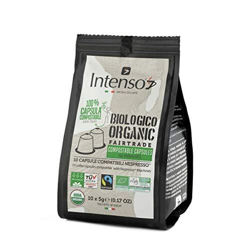 Intenso Aroma di Caffè Espresso - 120 aluminiumfreie & kompostierbare Bio-Kaffeekapslen, Nespresso® kompatibel