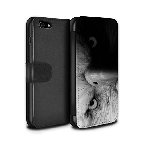 STUFF4 PU-Leder Hülle/Case/Tasche/Cover für Apple iPhone SE / Elefant Muster / Zoo-Tiere Kollektion Adler / Raubvogel