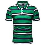 CICIYONER Poloshirts Herren Sommer Kurzarm Kontrast/Streifen Polohemd Polo Shirts Regular Fit M-3XL