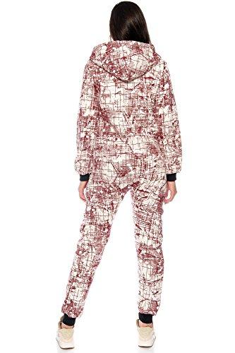 Crazy Age Jumpsuit Overall Abstrakt Warm und Kuschelig Newlook Rot