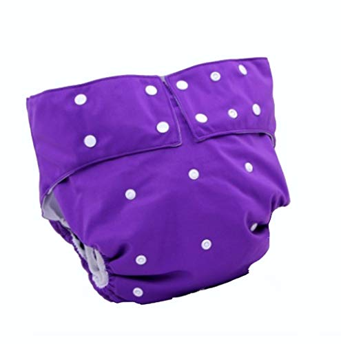 JAORUNNING Adult Windeln for The Elderly Can Wash Urine and Wet Breathable Adult Windelpants Leak-Proof Waterproof Cotton Winapers,Purple