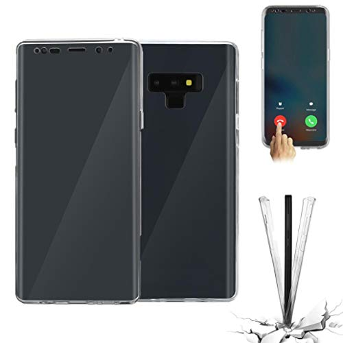 Für Samsung Galaxy Note 9 Hülle , 2018 Neu Crystal Transparent 360 Hybrid Silicone Full Case Cover für Samsung Galaxy Note 9 Geschenk (Klar) Samsung Crystal