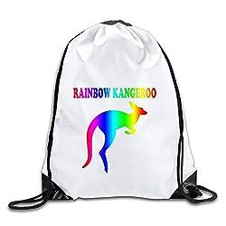 Good Gift - Cool Rainbow Kangeroo Backpack Sack Bag Gym Bag For Men & Women Sackpack