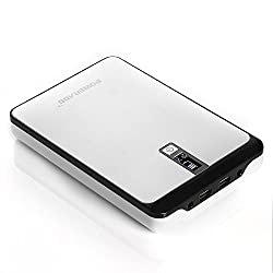 Poweradd Pilot Pro2 23000mAh Multi-Voltage (9V-20V) Portable Charger External Battery Backup Power Bank with Smart LCD Digital Display for Tablet, Netbooks, Notebooks, Laptops, Smart Phones