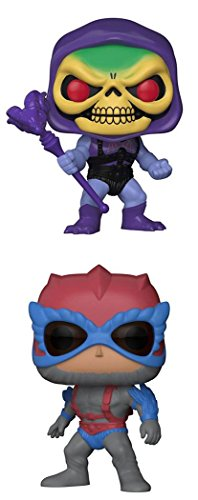 FunkoPOP Masters Of The Universe Battle Armor Skeletor Stratos Cartoon Vinyl 2 Figure Bundle Set NEW