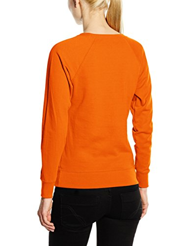Fruit of the Loom Ss072m, Sweat-Shirt Femme Orange