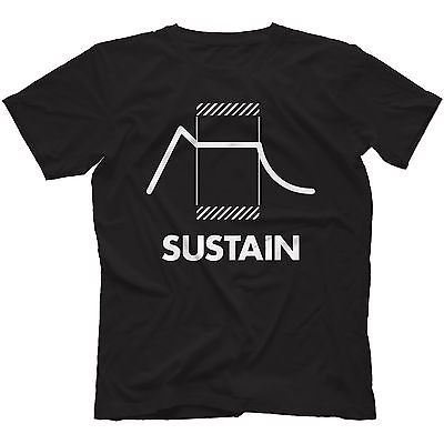 sustain-synthesiser-t-shirt-100-cotton-retro-synth-analog-synthesizerlargeforest-green