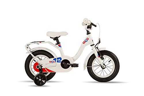 S\'COOL Kinder niXe Steel 12 Kinderfahrrad, White/Blue/Red, Zoll