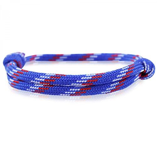Skipper Surfer-Armband mit Segelknoten für Damen und Herren - Blau/Weiß / Rot 6856