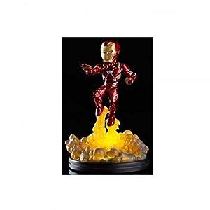 Quantum Mechanix Figura QFIG con LUZ Marvel Iron Man, Color Multi Colour, Estándar (MVL-0011) 3