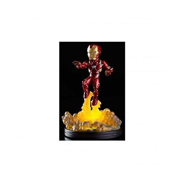 Quantum Mechanix Figura QFIG con LUZ Marvel Iron Man, Color Multi Colour, Estándar (MVL-0011) 1