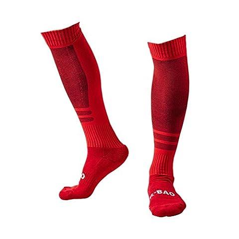 Herren Sportsocken Transer® Knie-Lange Baumwolle+Nylon Draussen Fußball Basketball Baseball-Socken Strümpfe Größe: 44x20cm (Gestreifte Verbandsmull)