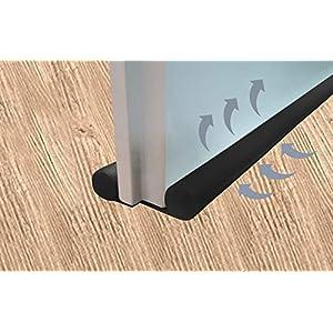 3 x Zugluftstopper zuschneidbar schwarz 91 cm Zugluftstop Luftzugstopper Türbodendoppeldichtung Türisolierung…