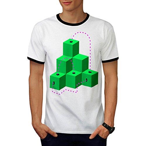 Würfel Modisch Drucken Mode geometrisch Herren M Ringer T-shirt | Wellcoda