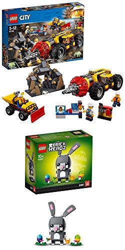 go City - Schweres Bohrgerät für den Bergbau 60186 + Lego BrickHeadz Osterhase 40271 ()