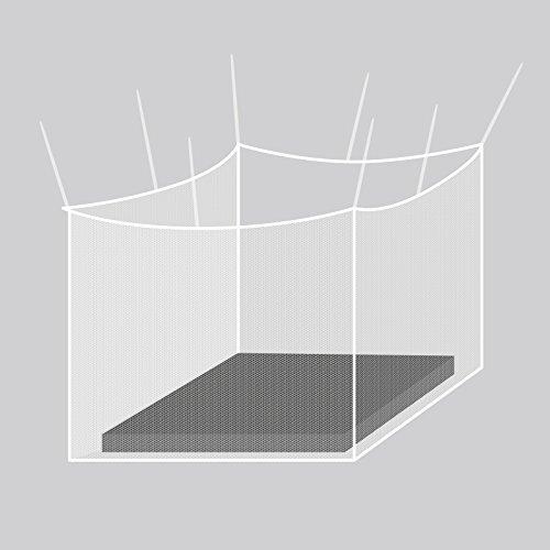 Gardigo Moskitonetz, Mückennetz   Insektenschutz, 200 x 220 x 200 cm, Quadratisch   Schutz vor Mücken, Fliegen   Geeignet für Einzel- und Doppelbett
