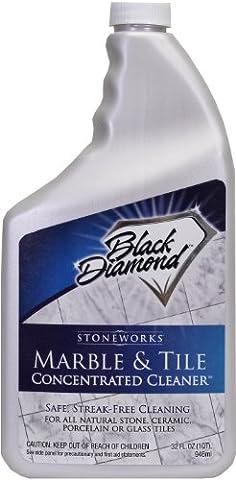 Black Diamond Nettoyant pour les sols en marbre et carrelage Idéal pour céramique, porcelaine, granite, pierre naturelle, vinyle et linoleum. Concentré sans rinçage.