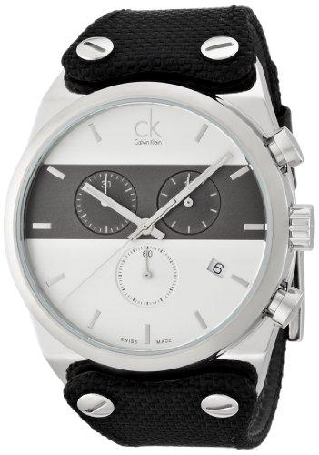Calvin Klein K4B371B6 - Reloj de pulsera Hombre, Cuero, color Negro