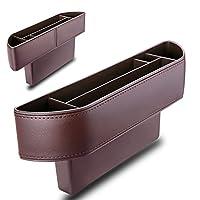 Lumiereholic Universal Leather Pocket Organiser for Car Seat Gaps