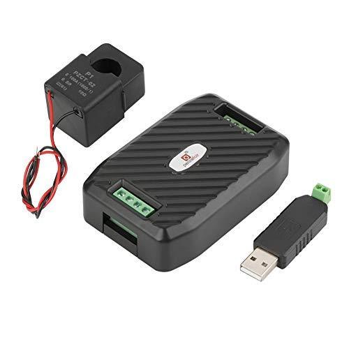 PEACEFAIR Voltmetro Amperometro Wattmetro Digitale Misuratore di Potenza Multifunzione Contatore Energia Elettrica Misuratore Consumo Elettrico V A Hz kW(Meter + Tipo aperto CT + USB a 485)