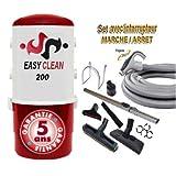Aspiration centralisée EASY-CLEAN 200 garantie 5 ans (jusqu'à 180 M²) + Set inter 9 M + 8 accessoires + 1 Aspi-plumeau offert