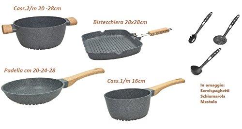 Tognana energica Batteria 7 Pezzi +3 Omaggio. Natural bio Cooking con Tecnologia floatech. La Linea di pentole a Risparmio ENERGETICO.Innovativo Fondo in 3D
