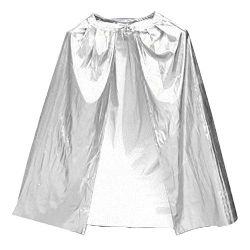 be Long Tippet Cape für Kind Kinder Halloween Kostüm Theater Rollenspiel Cosplay Kostüm-Kleid 0,9m Silber (Die Meisten Einzigartige Halloween Kostüme)