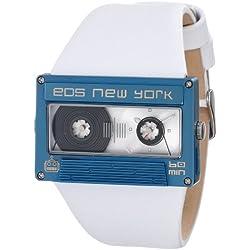 Eos New York Mixtape Watch weiß / blau Uhr im Kassettenlook Tape