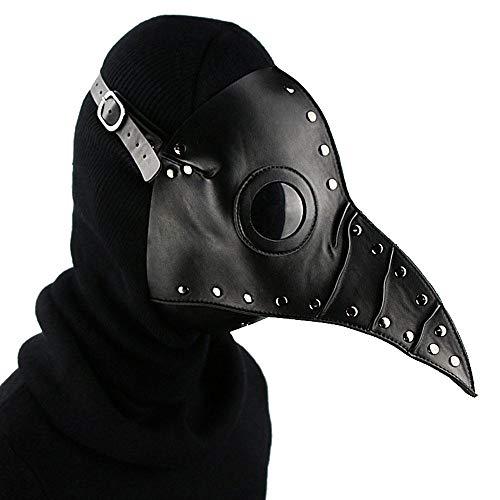 BENME Cosplay Mark Plague Doctor Vogel Maske | Vintage Gothic Leder Punk Maske für Männer Frauen Erwachsene Teens Karneval Maskerade Kostüm Bar (Große Vogel Teen Kostüm)